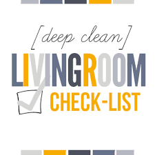 living room checklist how to deep clean your living room free printable