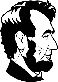 abraham lincoln president abd side view coloring page wecoloringpage