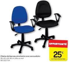 chaise de bureau pivotante carrefour promotion chaise de bureau pivotante avec accoudoirs