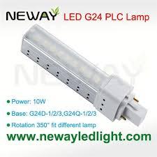 10w g24 lamp holder led plc light bulb replace 26w cfl 10w g24