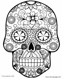 skull simple coloring pages printable