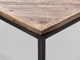 Wohnzimmertisch Metall Holz Massivum Couchtisch Barkley 90x38x90 Cm Teak Grau Unbehandelt