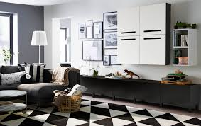 living room furniture ideas ikea large livingroom with black brown low storage drawers and wall