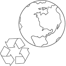 more recycle on earth day coloring sheet batch coloring
