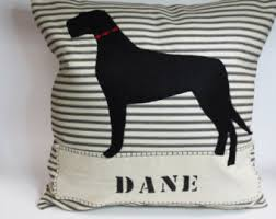 Great Dane Home Decor Great Dane Pillow Etsy