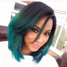 gorgeous black girl with medium length hair cut into a bobbed