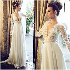 wedding dress lace back and sleeves wedding dresses ideas sleeeves v neck a line lace summer