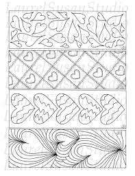 Hearts Bookmarks Printable Valentines Coloring Pages Pdf