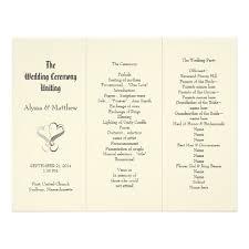 exles of wedding reception programs wedding programs templates free tri fold wedding invitation ideas