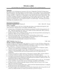 Resume Sample For Production Manager Marketing Director Resume Examples Cbshow Co