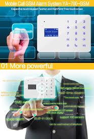 ya 700 gsm 10 home house office security burglar alarm system