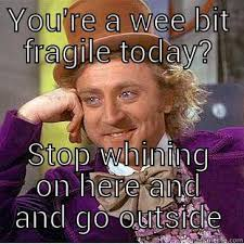Stop Whining Meme - condescending wonka memes quickmeme