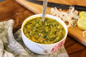palak tovve or palak dal recipe spinach and lentil curry by