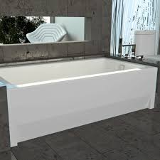 Bathtubs 54 Inches Long Alcove Tub Bathtub With Skirt U0026 Flange For 3 Wall Alcove