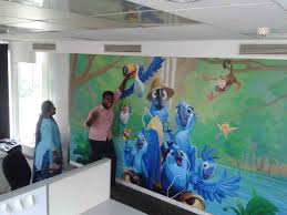 corporate chennai wall painting making of wall mural 71