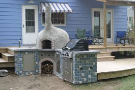 brick oven outdoor kitchen with fireplace 2351 hostelgarden net