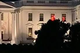 the real reason red lights were flashing in white house windows