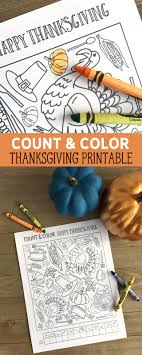 count and color thanksgiving printable my s suitcase