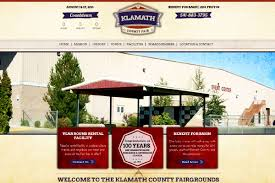 web design home based business klamath co fairgrounds rustic website design old paper red