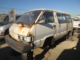 rusty car driving junkyard find 1984 toyota van with bonus san francisco