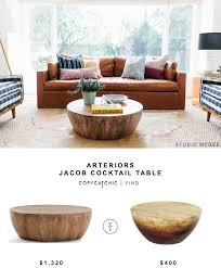 cocktail table vs coffee table arteriors jacob cocktail table copycatchic