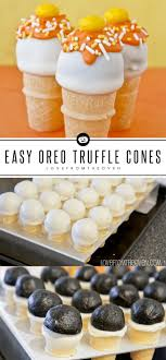 oreo truffles 10 no bake recipes sallys baking addiction no bake oreo cake pop cones for halloween love from the oven