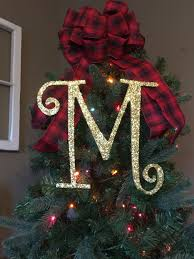 monogram tree topper decorative 12 gold monogram christmas tree topper