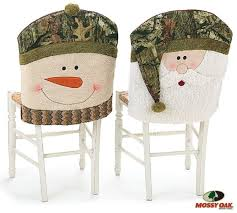 chair back cover mossy oak santa and snowman camouflage christmas chair back covers