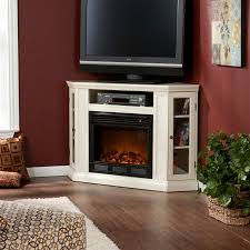 Electric Fireplace With Storage by Southern Enterprises Claremont Convertible Ivory Electric