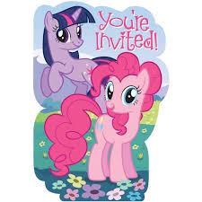 Birthday Invitation Card Template My Little Pony Birthday Invitations Birthday Party Invitations