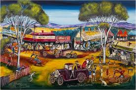 artwork australian bush christmas