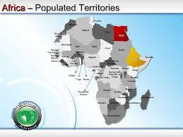 map 4 africa africa powerpoint map africa map ppt