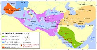 middle east map medina rise of islam