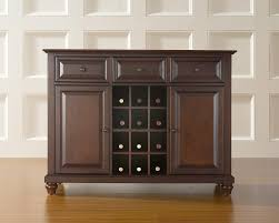 Wine Rack In Kitchen Cabinet Amazon Com Crosley Furniture Cambridge Wine Buffet Sideboard