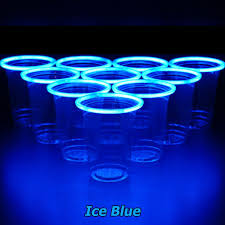 glow in the cups glowpong glowing set competition green vs