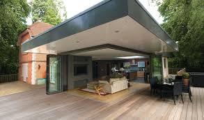 Bi Folding Glass Doors Exterior Idsystems Bifold Doors Sliding Doors Glass Roofs
