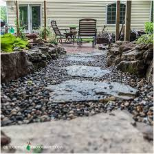 patio stone pavers backyards bright pebble mosaic stepping stones by jeffrey bale