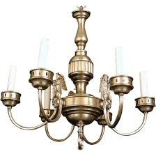 Chandelier New York Sterling Bronze Company Of New York Federal Style Chandelier From