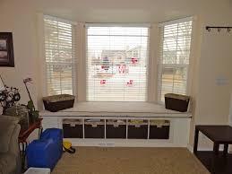 Home Decor Target Fabulous Modern Bay Window Decoration Cream Curtains Black Sofas