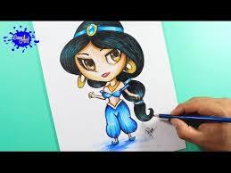 drawing jasmine como dibujar jasmin aladdin