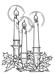 free coloring pages for christmas candle christmas coloring