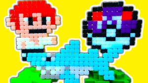 qixels pixel art toy craft minecraft pokemon mario sonic custom 8