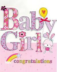 congrats on your new card finished baby girl card large luxury congratulations card