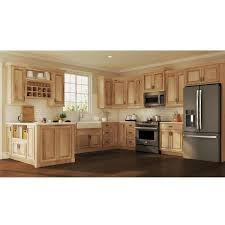 what paint color goes best with hickory cabinets hton assembled 36x18x12 in wall bridge kitchen cabinet in hickory