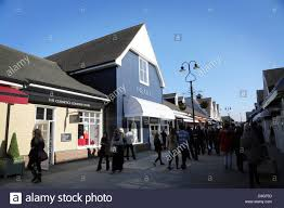 designer outlets bicester shopping designer outlets stock photo