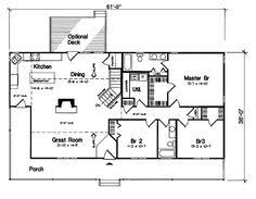 Rancher House Plans Simple Rectangular Ranch House Plan Expansive One Story I Like
