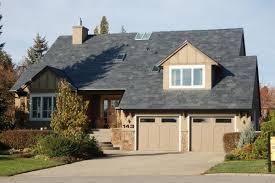 residental house garage small garden black sloping roof home residental house garage small garden black sloping roof home design