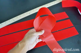 paper ribbon how to make a large bow with ribbon diy inspired