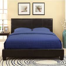 square platform synthetic leather upholstery bed frame free