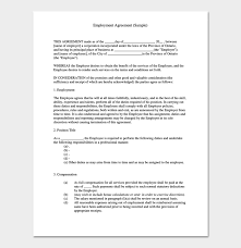 job contract template 4 sample agreements for word pdf